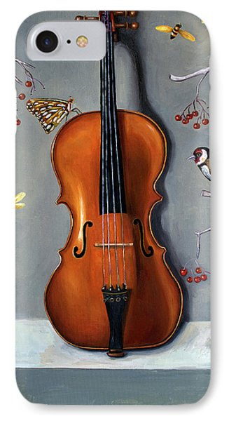 Violin iPhone 8 Case - Bird Song by Leah Saulnier The Painting Maniac