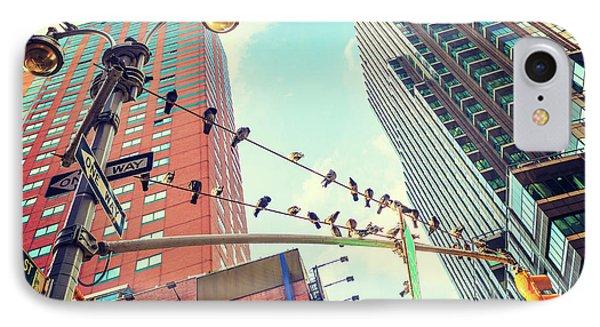 Birds In New York City IPhone Case