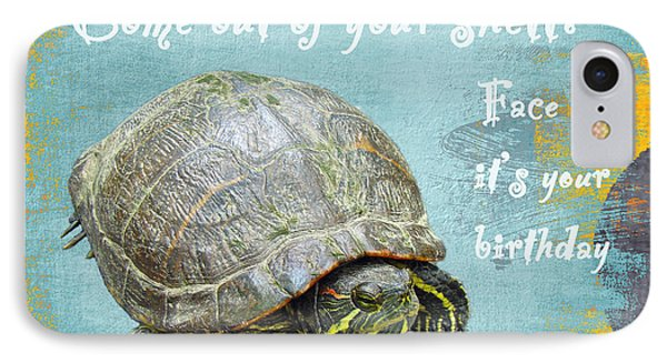iPhone 8 Case - Birthday Card - Painted Turtle by Mother Nature