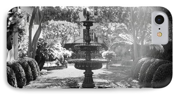 Black And White Charleston Fountain IPhone Case