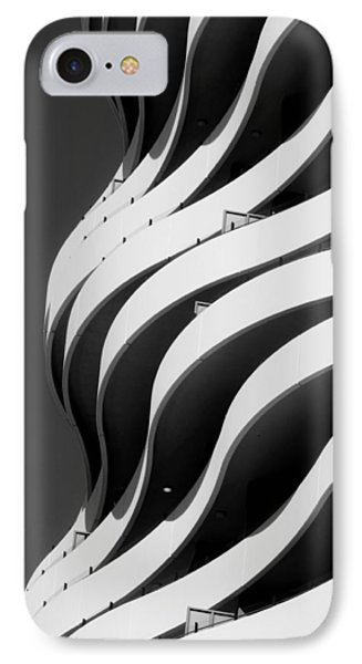 Black And White Concrete Waves IPhone Case