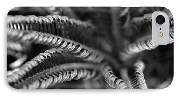 Black And White Palm Abstract 3624 Bw_2 IPhone Case