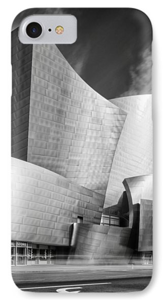 Black And White Rendition Of The Walt Disney Concert Hall - Downtown Los Angeles California IPhone Case