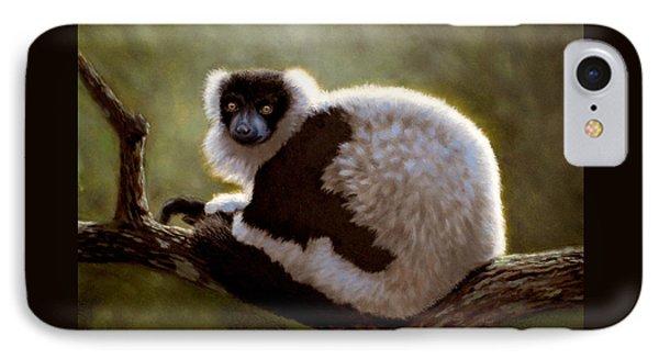 Black And White Ruffed Lemur IPhone Case