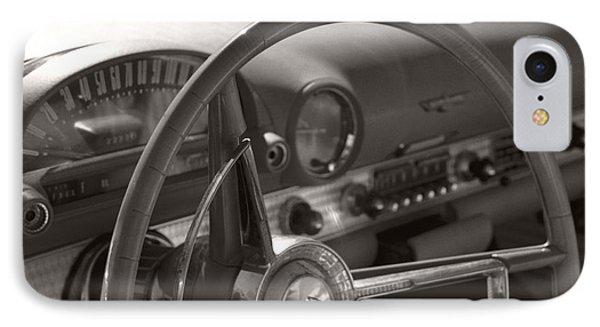 Black And White Thunderbird Steering Wheel  IPhone Case