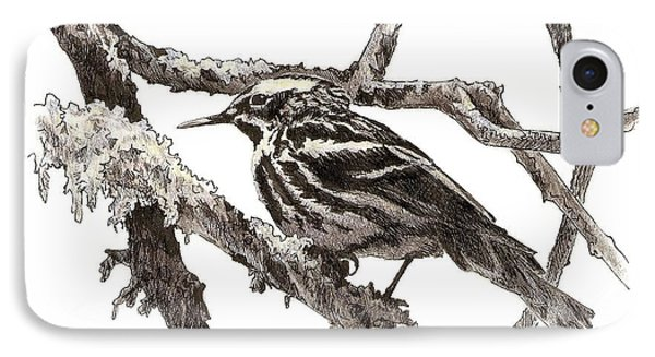 Black-and-white Warbler IPhone Case