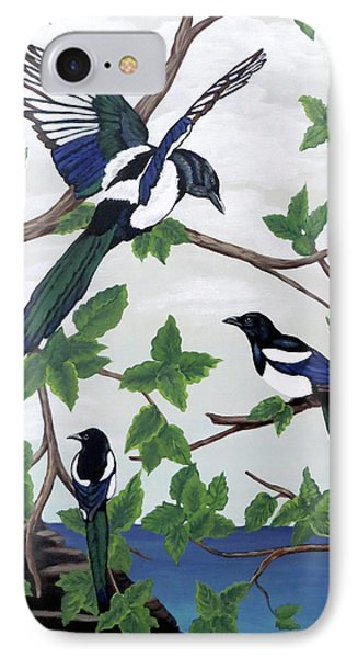 Black Billed Magpies IPhone Case
