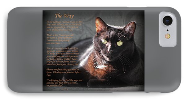Black Cat The Way IPhone Case