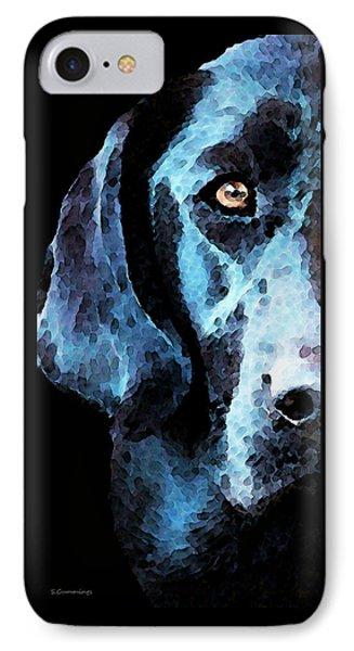 Black Labrador Retriever Dog Art - Hunter IPhone Case