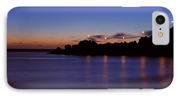 Black Rock Sunset IPhone Case