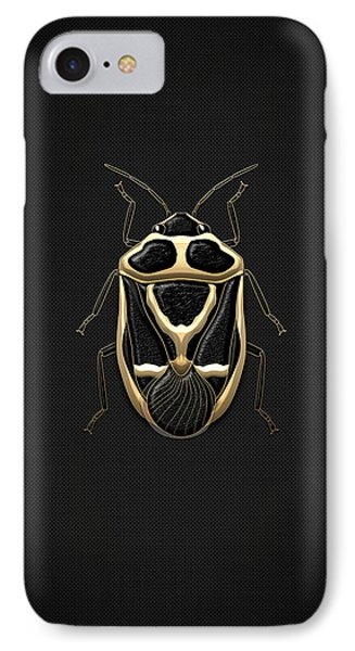 Black Shieldbug With Gold Accents  IPhone Case