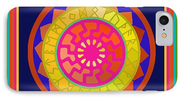 Black Sun Mandala Rune Calendar IPhone Case