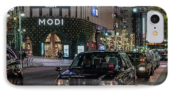 Black Taxi In Tokyo, Japan IPhone Case