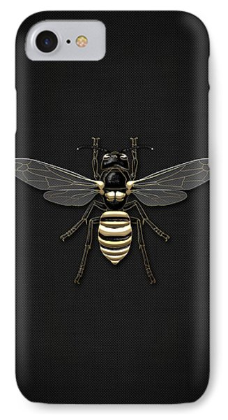 Black Wasp With Gold Accents On Black  IPhone Case