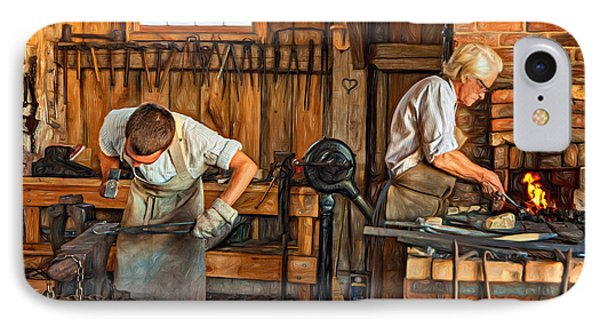 Blacksmith And Apprentice 3 - Paint IPhone Case