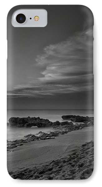 Blowing Rocks Black And White Sunrise IPhone Case