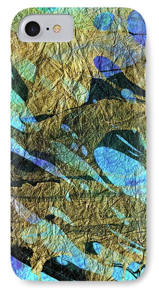 Blue Abstract Art - Deeper Visions 2 - Sharon Cummings IPhone Case