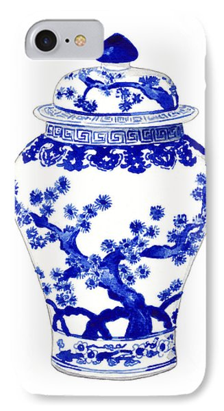 Blue And White Ginger Jar Chinoiserie 10 IPhone Case