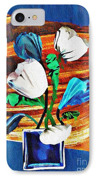 Blue And White Tulips IPhone Case
