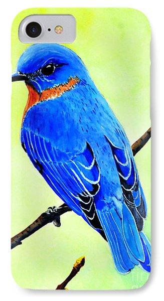 Blue Bird King IPhone Case
