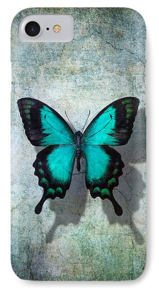 Shapes iPhone 8 Case - Blue Butterfly Resting by Garry Gay