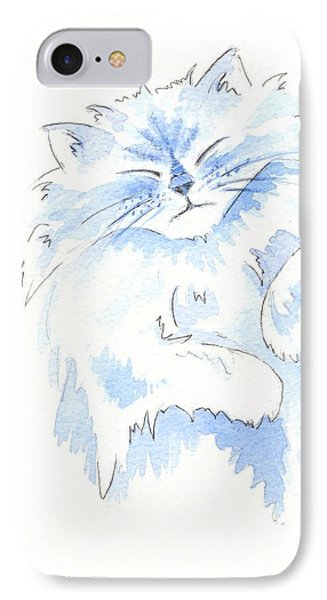 Blue Cat IPhone Case