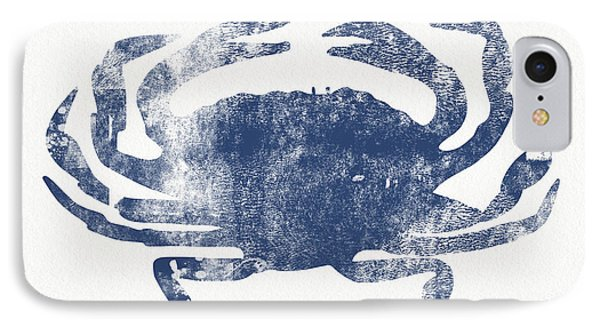 Blue Crab- Art By Linda Woods IPhone Case