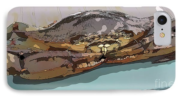 Blue Crab Cartoon IPhone Case
