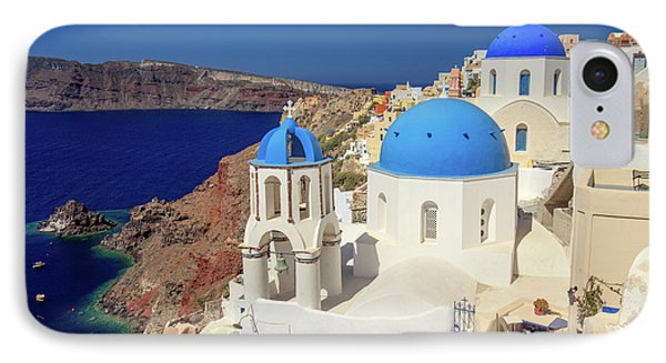 Blue Domed Churches IPhone Case