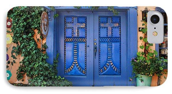 Blue Doors - Old Town - Albuquerque IPhone Case