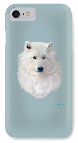 Blue-eyed Snow Wolf IPhone Case