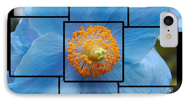 Blue Flower Photo Sculpture  Butchart Gardens  Victoria Bc Canada IPhone Case