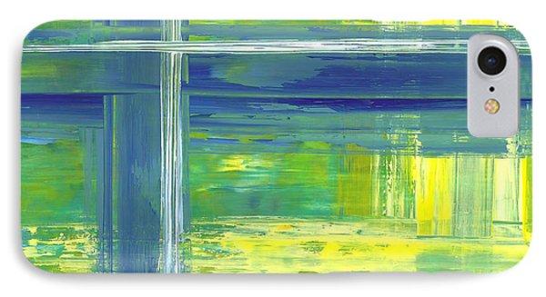 Blue Geometric Yellow IPhone Case