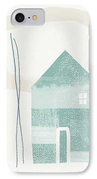 Blue House In Moonlight- Art By Linda Woods IPhone Case
