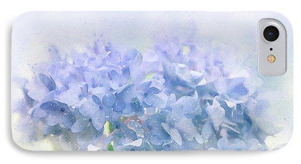 Blue Hydrangea Light IPhone Case