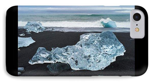 Blue Ice In Iceland Jokulsarlon IPhone Case