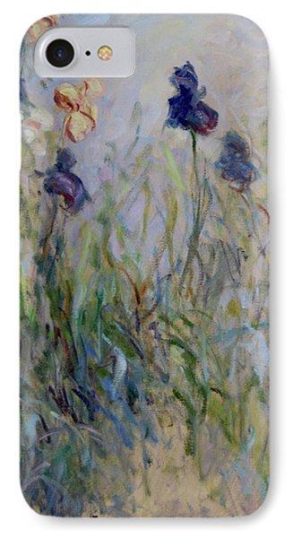Blue Irises In The Field, Painted In The Open Air  IPhone Case