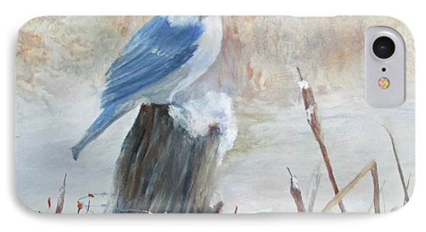 Blue Jay In Winter IPhone Case