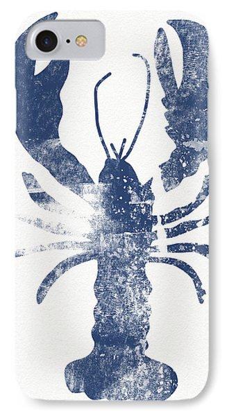 Wood iPhone 8 Case - Blue Lobster- Art By Linda Woods by Linda Woods