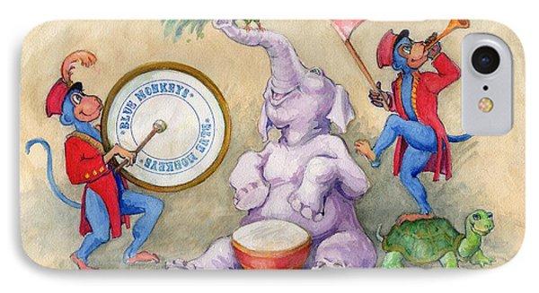 Blue Monkeys Circus IPhone Case