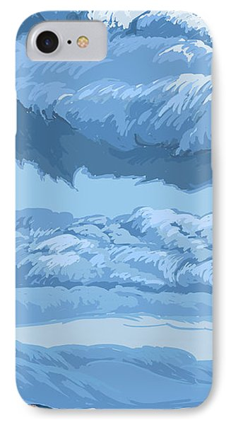 Blue Morning IPhone Case