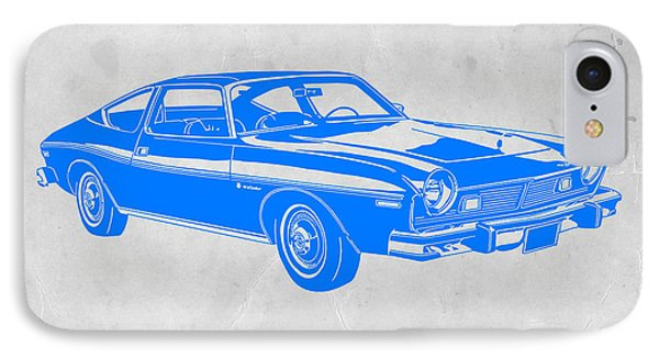 American iPhone 8 Case - Blue Muscle Car by Naxart Studio