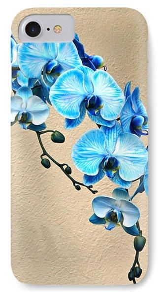 Blue Mystique Orchid IPhone Case