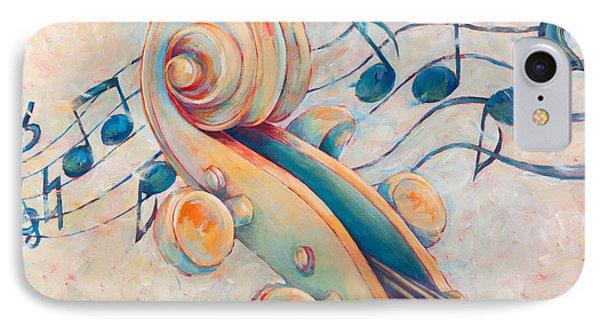 Violin iPhone 8 Case - Blue Notes by Susanne Clark
