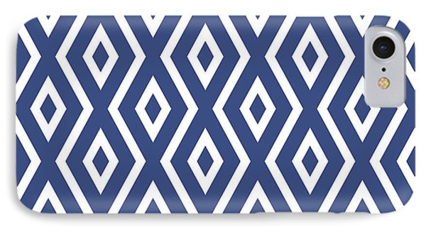 Shapes iPhone 8 Case - Blue Pattern by Christina Rollo
