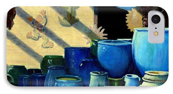 Blue Pots IPhone Case