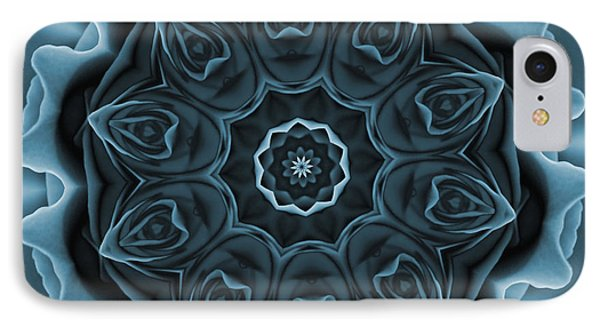 Blue Rose Mandala IPhone Case