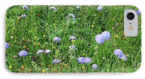 Blue Spring Flowers In Field IPhone Case