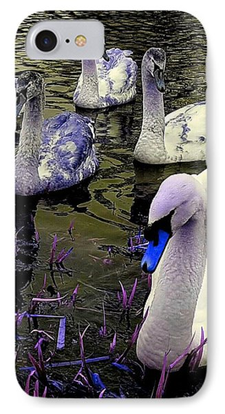 Blue Swan IPhone Case