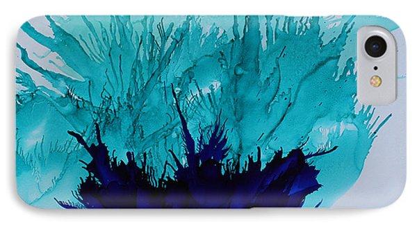 Blue Thistle IPhone Case